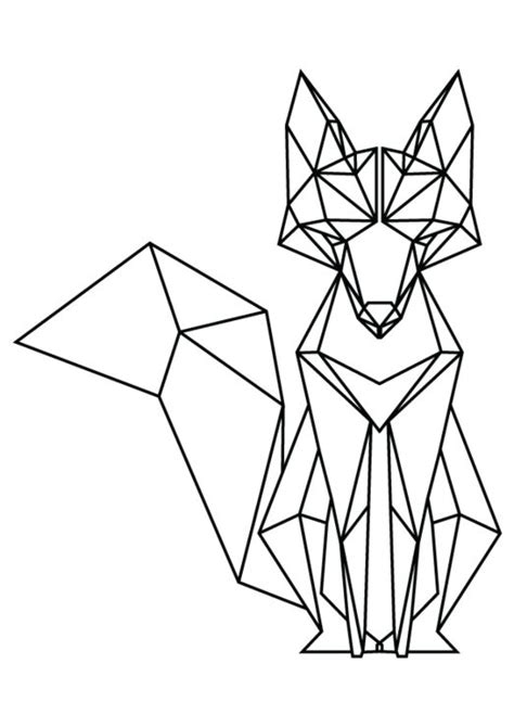 Drawing Origami - 25 best ideas about geometric animal on