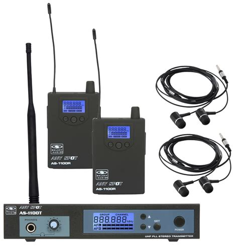 Ear Monitor galaxy as 1100 wireless in ear monitors for two users rainbow guitars