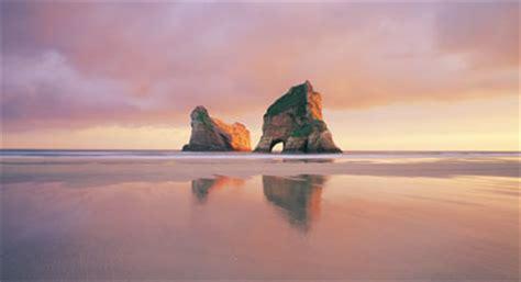 archway islands wharariki beach golden bay  rob brown