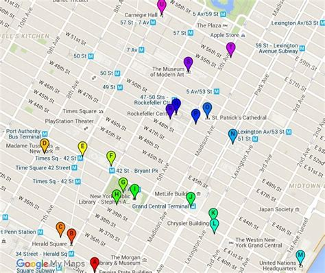 map of manhattan ny attractions maps update 58502825 manhattan tourist attractions map