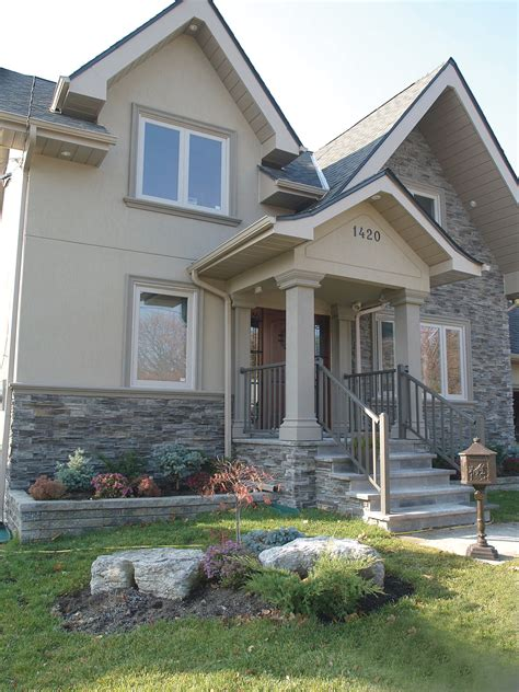 house with siding and stone faux stone panels timber ledge stone home decor ideas
