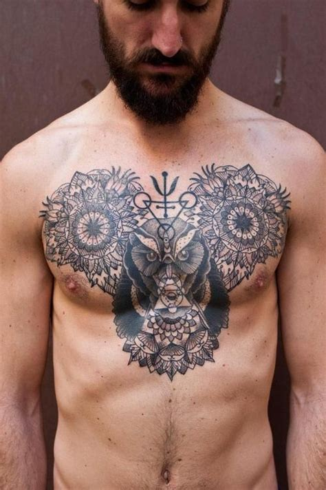 cool chest tattoos cool mandala on chest