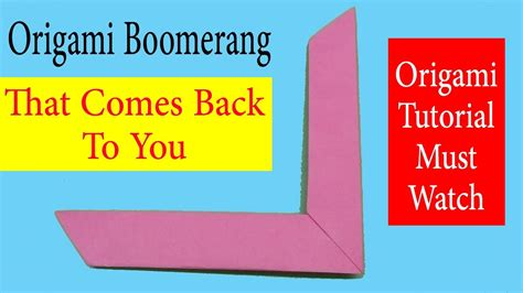 How To Make A Boomerang Origami - how to make an origami boomerang step by step