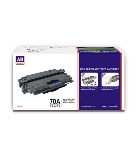 Toner Black Hp 70a Original ab 70a black toner cartridge q7570a hp 70a black toner compatible for hp laserjet m5025