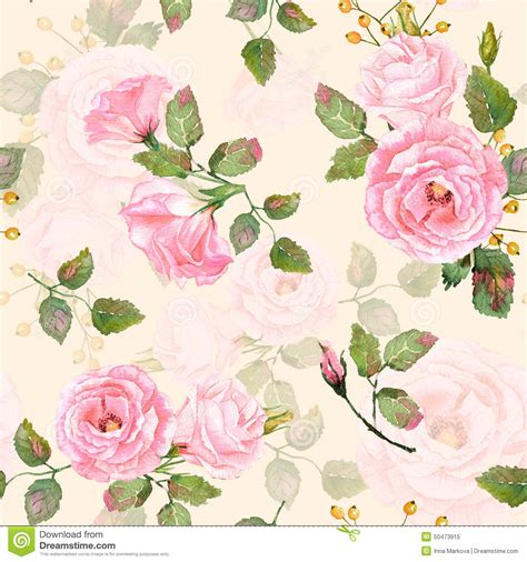 How To Make Wrapping Paper Flowers - seamless pattern of watercolor pink roses stock