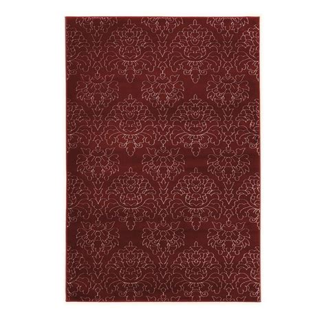 rugs home decor linon home decor prisma chloe red and white 8 ft x 10 ft