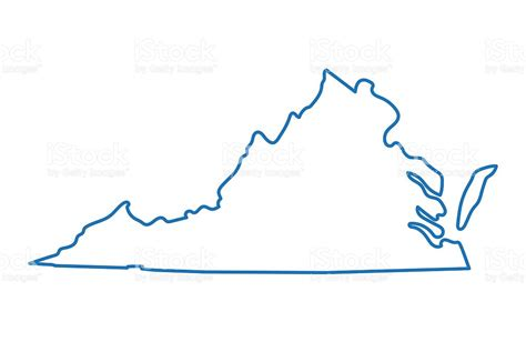 virginia state colors virginia clipart virginia outline pencil and in color
