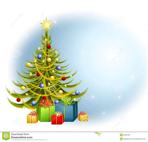 christmas tree gifts background stock illustration image