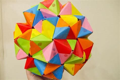Modular Origami Icosahedron - modular origami how to make a truncated icosahedron