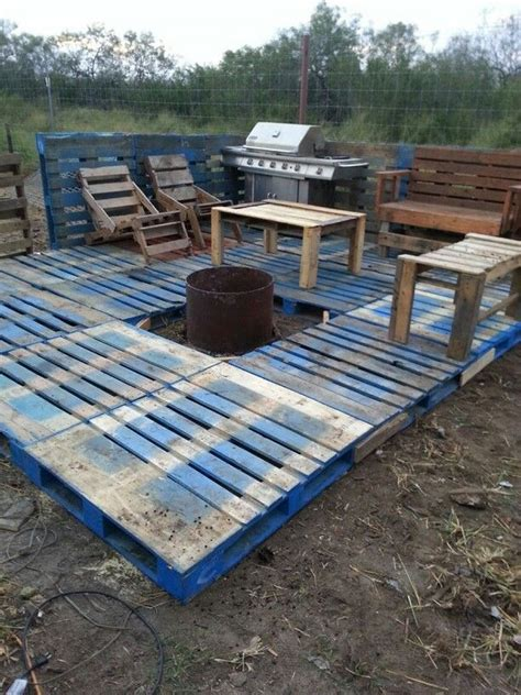 How To Build A Deck by Diy Pallet Patio Decks With Furniture Pallet Wood Projects