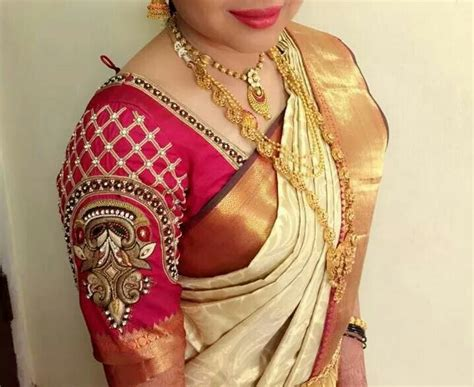 Sleeve Embroidery Blouse embroidered sleeve blouses patterns styles sarees