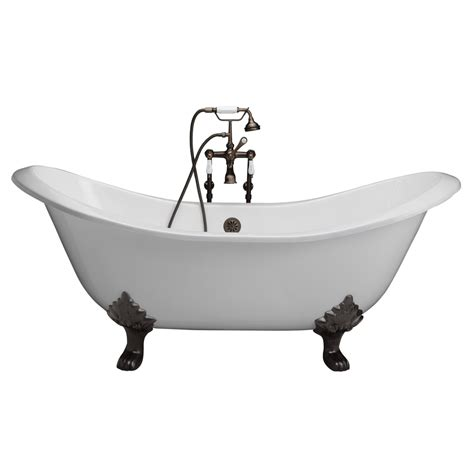 install cast iron bathtub shop barclay 71 in white cast iron clawfoot bathtub with