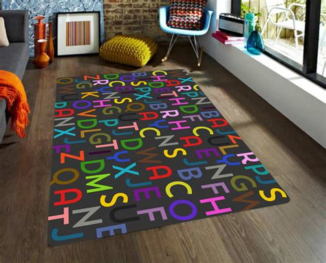Kids Area Rugs Letters Rug Alphabet Rug Educational Rug Alphabet Rug