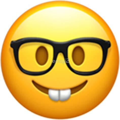 Nerdy Home Decor by Quot Emoji Nerd Quot Stickers By Emoji2 Redbubble