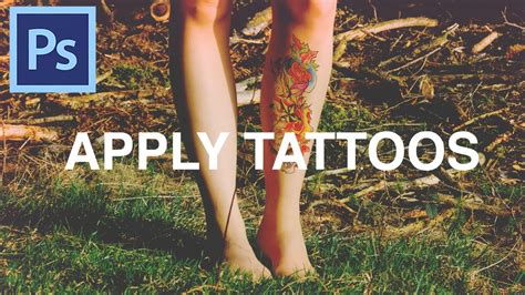 tattoo apply youtube how to apply tattoos in photoshop youtube