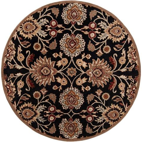 Artistic Weavers Artes Maroon 4 Ft X 4 Ft Round Area Rug 4 Ft Area Rugs