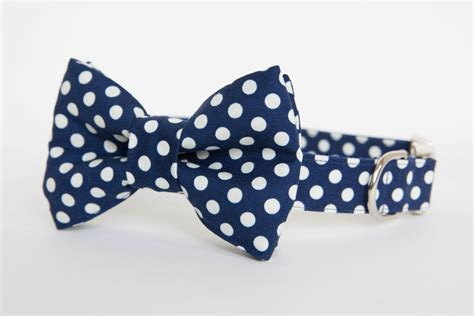bow tie collars bow tie collar navy polka dot pecan pie puppies