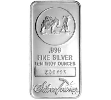 10 Oz Silver Bar Worth - silvertowne silver bullion bar sizes purities and worth