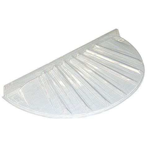 plastic window well covers maccourt 40 in x 17 in low profile circular plastic
