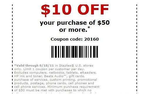 staples in store coupon may 2018