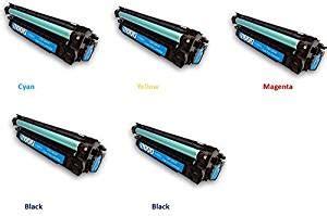 Toner Lj Color Ce261a C Ce262a Y Ce263a M New black hawk toner 5 pack hp ce260x ce261a