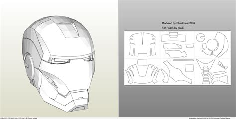 iron man suit template papercraft pdo file template for iron 4 6