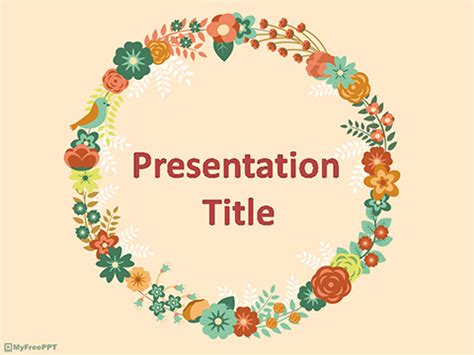 powerpoint flower template free vintage powerpoint templates myfreeppt