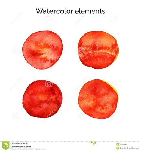 design elements watercolor red watercolor design elements set isolated watercolor