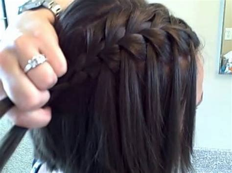 hairstyles to do self waterfall braid self cute girls hairstyles youtube