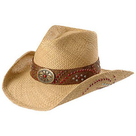 s studded panama straw cowboy hat polyvore