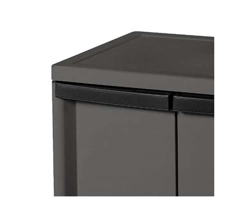 sterilite 2 shelf storage cabinet flat gray 01403v01