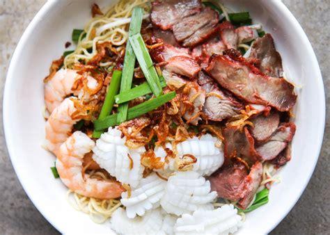 vietnamese combination dry egg noodle recipe mi kho thap