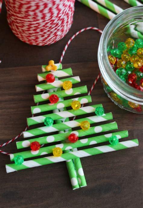 paper straw crafts paper straw tree ornament gluesticks