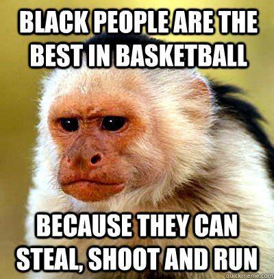 Funny Memes Black People - have a laugh monkey makes racist joke saboteur365