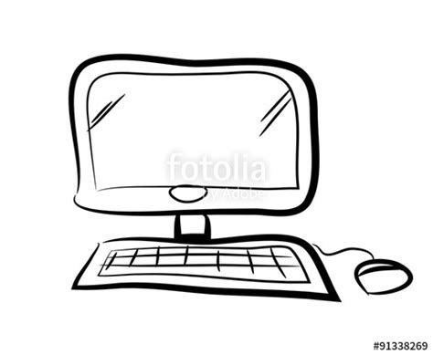 how to make doodle in computer quot computer doodle a vector doodle illustration