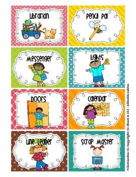 printable job cards for classroom classroom helpers owl and kids plus clothespin pencils
