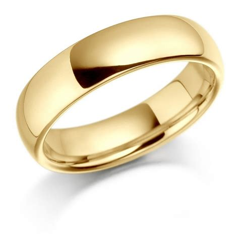 9ct yellow gold 5mm gents wedding ring