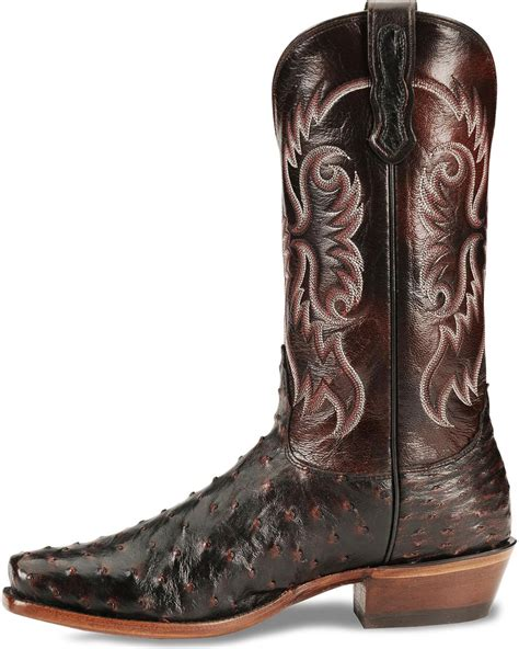 mens black ostrich boots nocona s black cherry quill ostrich boots sq