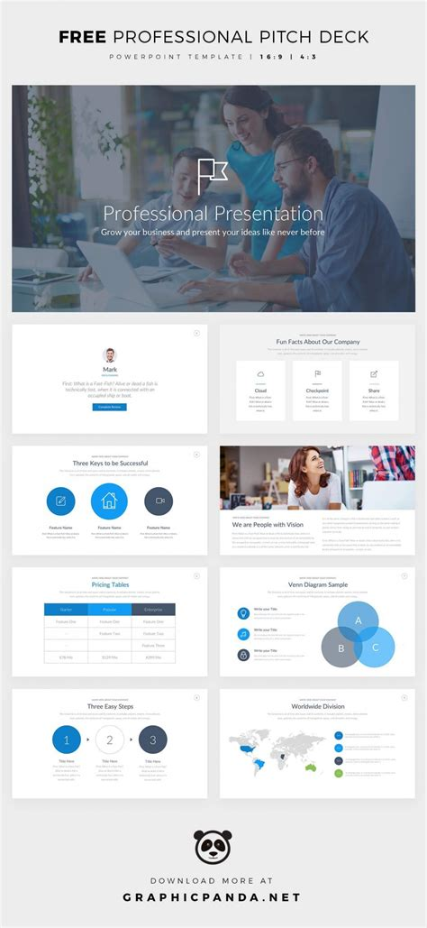 Free Powerpoint Template Pitch Deck Presentation Ppt Free Business Pitch Powerpoint Template