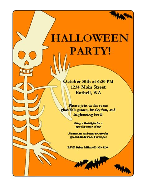 Halloween Templates For Flyers Free | halloween party flyers free flyer templates