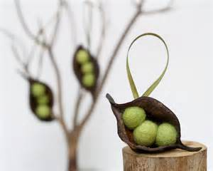natural christmas ornaments pea decorations rustic by