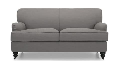 orson sofa orson 2 seater sofa graphite grey made com