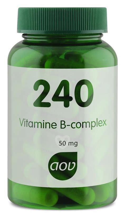 Vitamin B Complex 50 Mg 240 vitamine b complex 50 mg aov voedingssupplementen