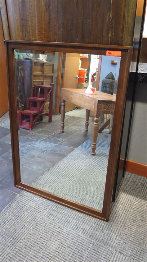 50 x 36 mirror large wood framed mirror 36 x 50 oahu auctions