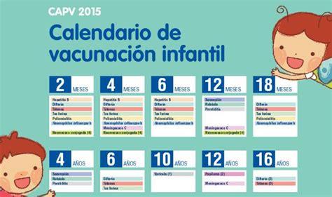 calendario de vacuna 2016 peru osakidetza incluye la vacuna prevenar en el calendario