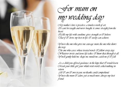 Personalised Poem Poetry for Bride Daughter from Parents
