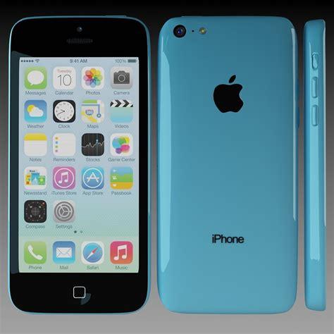 3 iphone models apple iphone 5c blue 3d model