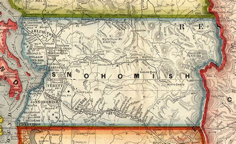 Washington State Court Records By Name Snohomish County Archives Snohomish County Map 1909