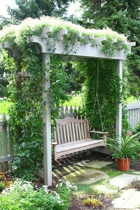 swing in the garden garden arbor swing gardening pinterest
