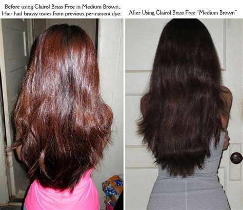 Shimmer Lights Shoo Before And After by Clairol Shimmer Lights Before And After Brown Hairs